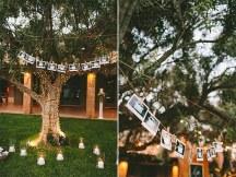 Ρουστικ διακοσμηση με πολλα κερακια και λαμπακια