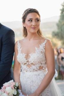 Εντυπωσιακο ρομαντικο νυφικο φορεμα