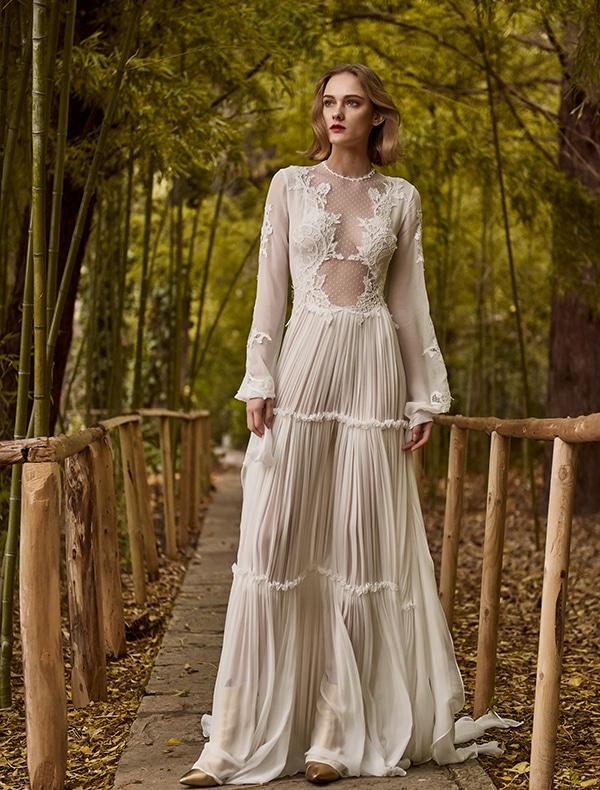 Μεταξωτο νυφικο φορεμα Costarellos