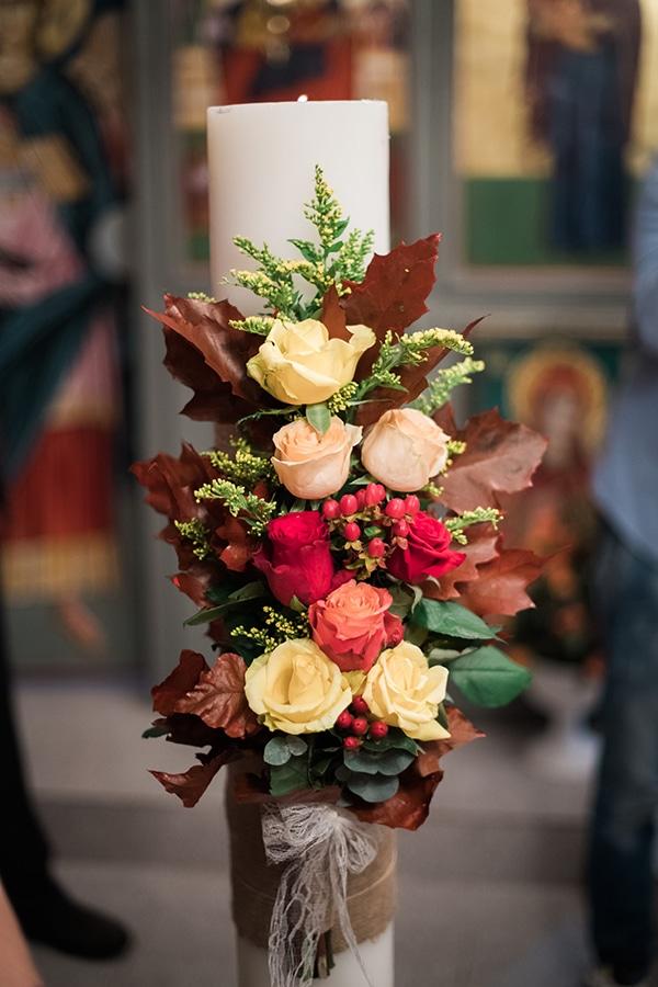 Στολισμος εκκλησιας για φθινοπωρινο γαμο