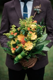 Φθινοπωρινη νυφικη ανθοδεσμη