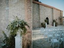 Simple boho διακοσμηση εκκλησιας