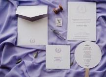 Προσκλητηρια γαμου με θεμα τη λεβαντα