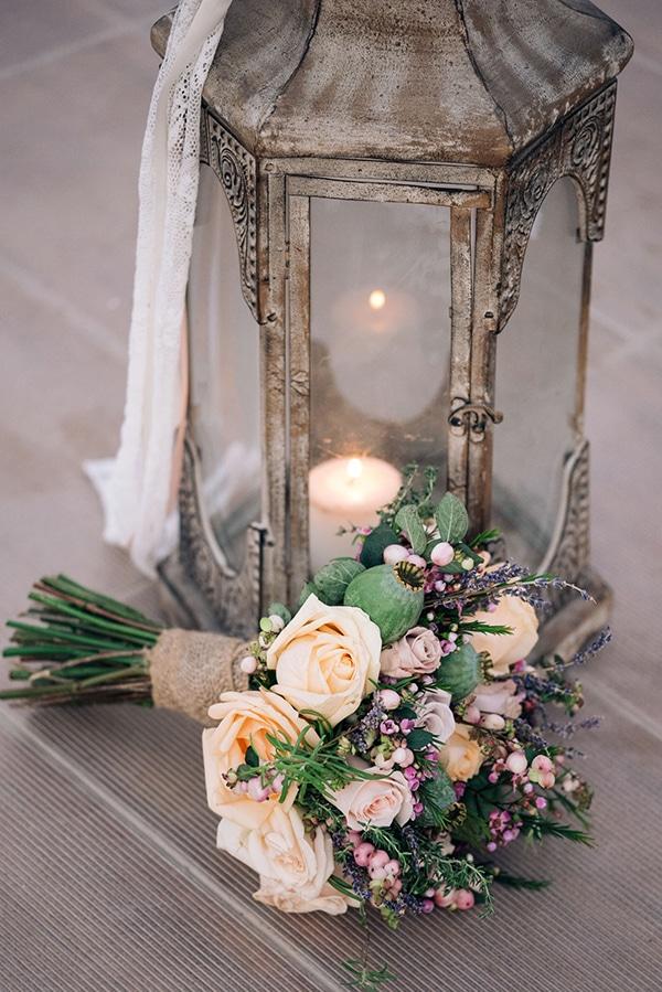 Νυφικη ανθοδεσμη για ρουστικ γαμο