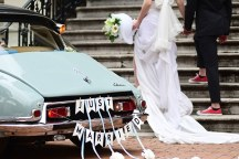 Retro αυτοκινητο για το γαμο σας