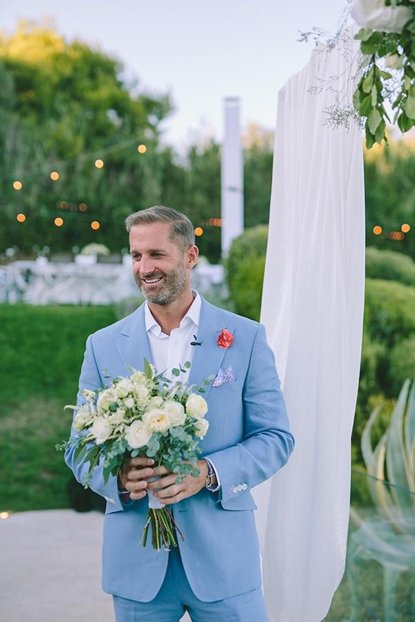 Κοστουμι γαμπρου σε γαλαζιο χρωμα