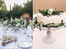 Organic minimalistic τουρτα γαμου
