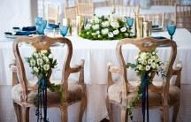 Στολισμος της καρεκλας της νυφης και του γαμπρου