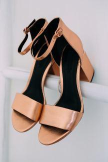 Ροζ χρυσα νυφικα παπουτσια