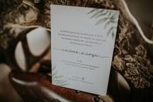 Προσκλητηρια γαμου σε λευκο και πρασινο χρωμα