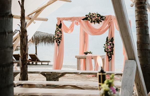Διακοσμηση γαμου με κυριαρχο χρωμα το απαλο ροζ