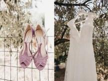 Νυφικα παπουτσια σε dusty pink χρωμα