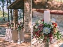 Ρομαντικος στολισμος λαμπαδας γαμου με παχυφυτα