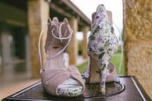 Floral bridal shoes Savrani