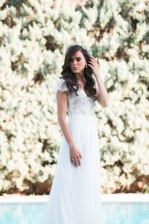 Boho νυφικο φορεμα
