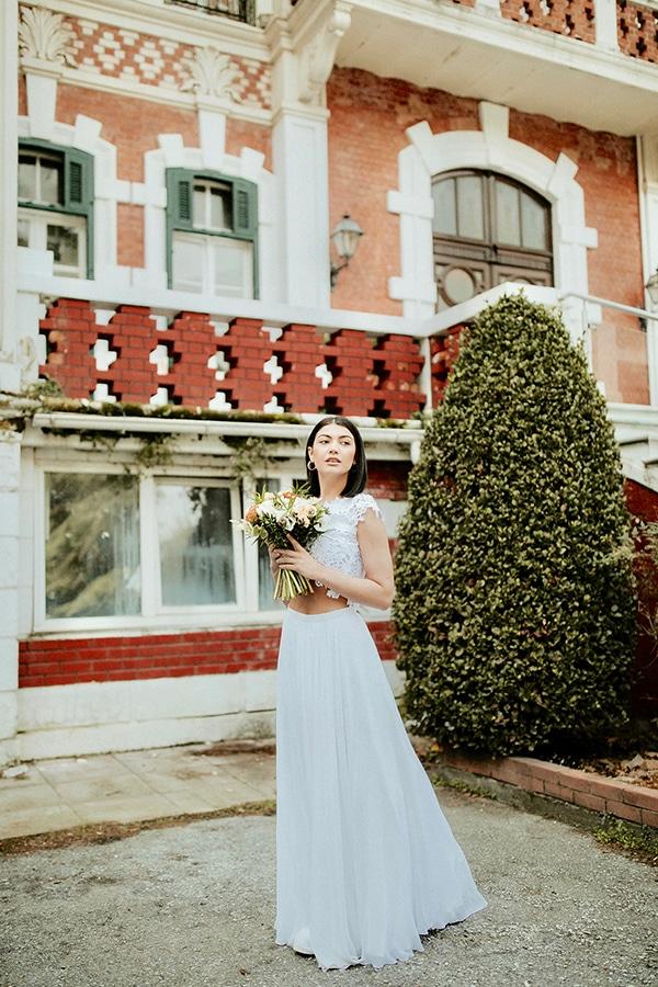 Νυφικο φορεμα crop top