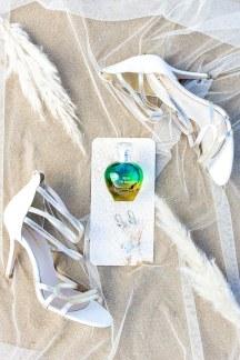 Νυφικα πεδιλα σε λευκο χρωμα