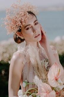 Λουλουδενιο νυφικο headpiece